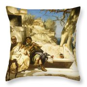 The Patrician's Siesta Throw Pillow