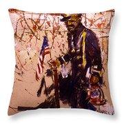 Use 2b So Ez - The Patriot Throw Pillow