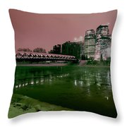 The Peace Bridge Throw Pillow