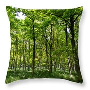 The Peaceful Forest  Throw Pillow