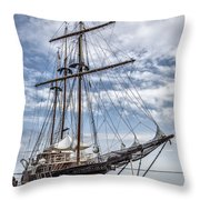 The Peacemaker Tall Ship Throw Pillow by Dale Kincaid