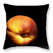 The Humble Peach Throw Pillow