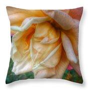 The Peach Rose Throw Pillow