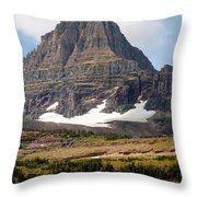 The Peak At Logans Pass Throw Pillow