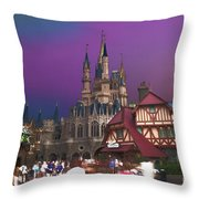 The Peasants View Throw Pillow