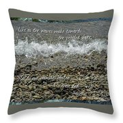 The Pebbled Shore 2 Throw Pillow