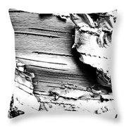 The Peeling Birch Throw Pillow