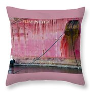 The Peggy Palmer Barge Throw Pillow