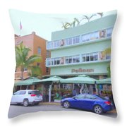 The Pelican Hotel Throw Pillow