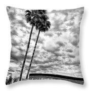 The People Are The City Palm Springs City Hall Throw Pillow