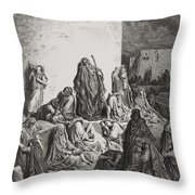 The People Mourning Over The Ruins Of Jerusalem Throw Pillow