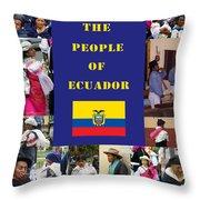 The People Of Ecuador Collage Throw Pillow