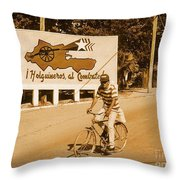The People Of Holguin Are Fighters Throw Pillow