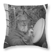 The Percussionist And  Storyteller Throw Pillow
