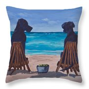 The Perfect Beach Day Throw Pillow