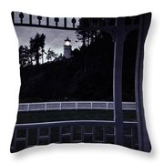 The Perfect Frame For The Heceta Lighthouse Throw Pillow