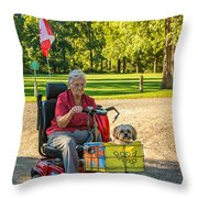 The Perfect Hood Ornament Throw Pillow
