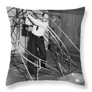 The Perfect Swing Device. Throw Pillow