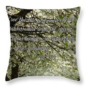The Perfumed Cherry Tree 1 Throw Pillow