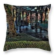 The Pergola In Pioneer Square IIi Throw Pillow