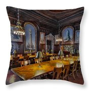 The Periodicals Room At The New York Public Library Throw Pillow