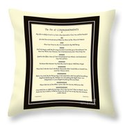 The Pet 10 Commandments With Bevelled Border Throw Pillow