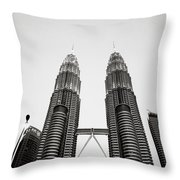 The Petronas Towers Malaysia Throw Pillow