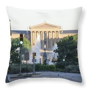 The Philadelphia Art Museum From The Parkway Throw Pillow