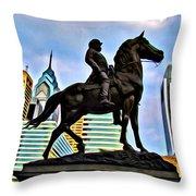 The Philadelphia General Throw Pillow