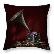 The Phonograph 5 Throw Pillow