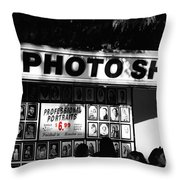 The Photo Shop Throw Pillow by Cheryl Young