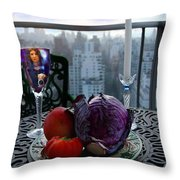 The Photographer Throw Pillow by Madeline Ellis