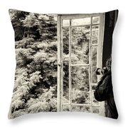 The Photographer's Quest Throw Pillow