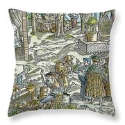 The Physic Garden, 1531 Throw Pillow