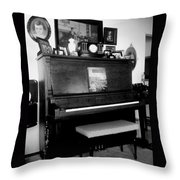 The Piano And Clarinet  Throw Pillow