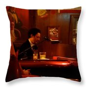 The Piano Bar Throw Pillow