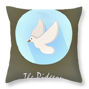 The Pidgeon Cute Portrait Throw Pillow