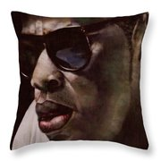The Pied Piper Of Intrigue - Jay Z Throw Pillow by Reggie Duffie