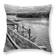 The Pier At Channel 4 Throw Pillow