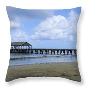 The Pier At Hanalei Throw Pillow