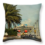 The Pier 2 -  St. Petersburg Fl Throw Pillow