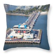 The Pier St Petersburg Florida Throw Pillow