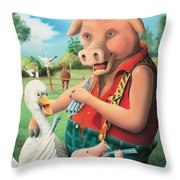 The Pig & Whistle Throw Pillow