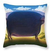 The Pig Throw Pillow