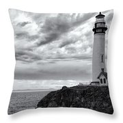 The Pigeon Point Beacon Throw Pillow by Eduard Moldoveanu