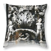 The Pilaster Friezes Of The Palaestra Throw Pillow