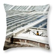 The Pineapple Pit Throw Pillow by Anne Gilbert