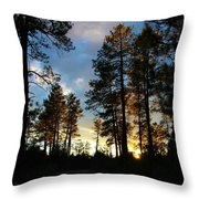 The Pines At Sunset Throw Pillow