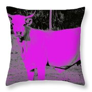 the Pink Cow Throw Pillow