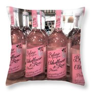 The Pink Drink Throw Pillow